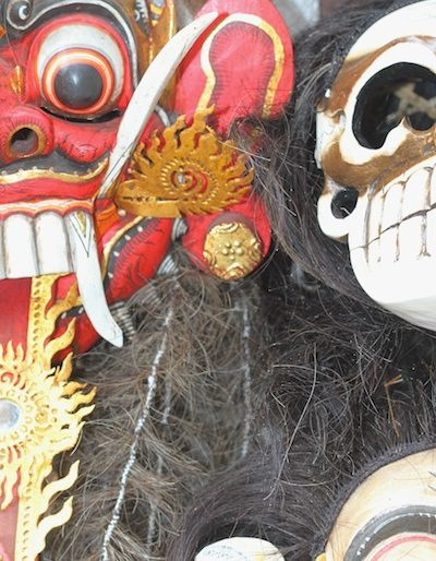 Masks sold at Ubud market