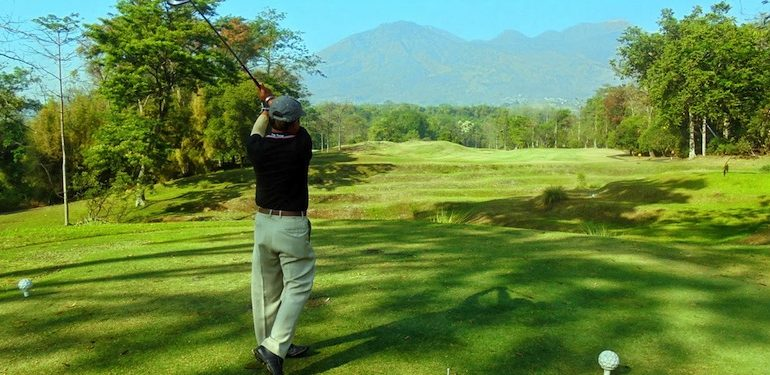 Playing golf at Handara