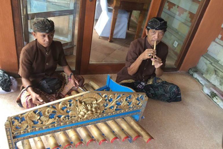 Traditional music at Keraton Jimbaran Beach Resort