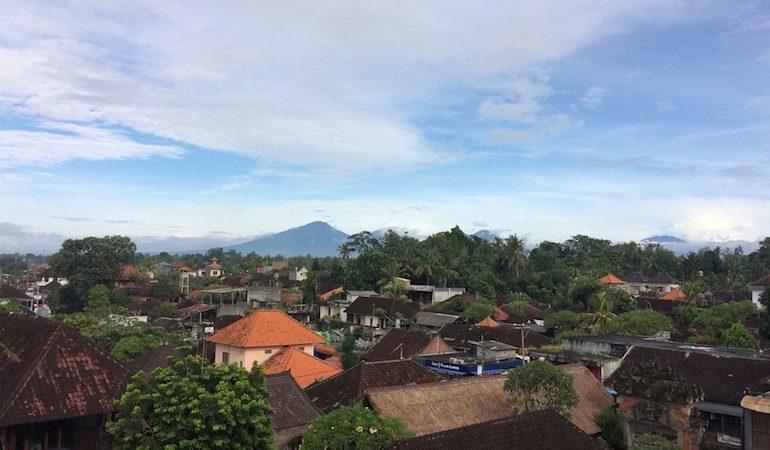 Ubud from the top floor of SenS Hotel