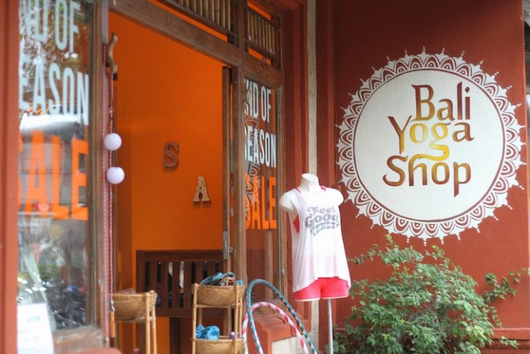 Yoga shops in Jalan Hanuman