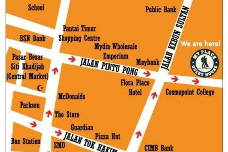 My Place Guest House map