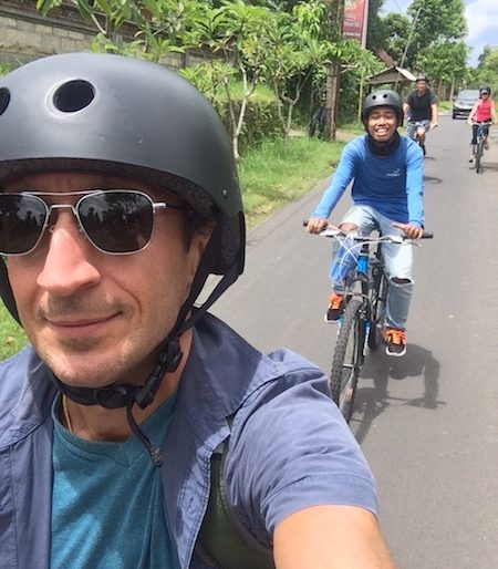 outdoor biking with Bali Eco Cycling