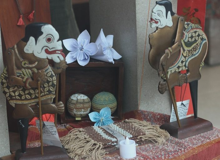 shadow puppets at the local market