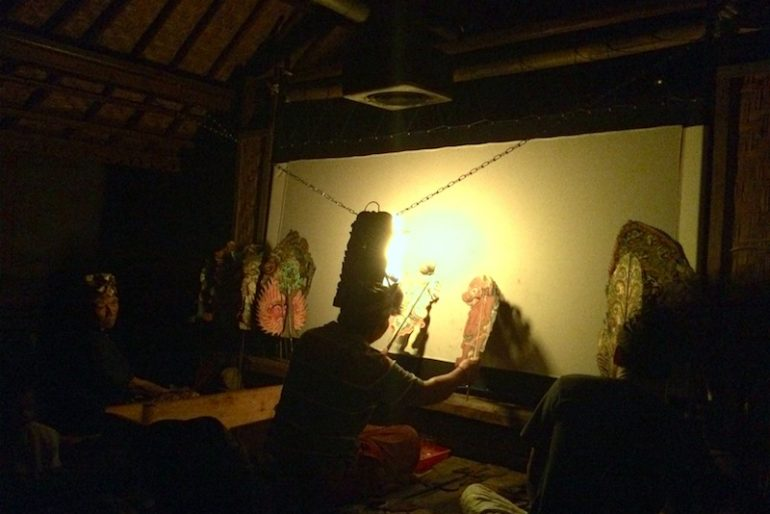 traditional shadow puppet performers