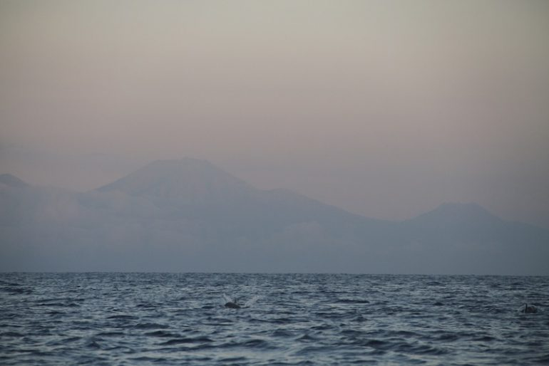 Java volcanoes on the distance
