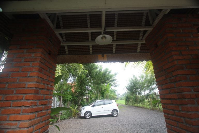 My Toyota Agya at Lata Lama villas