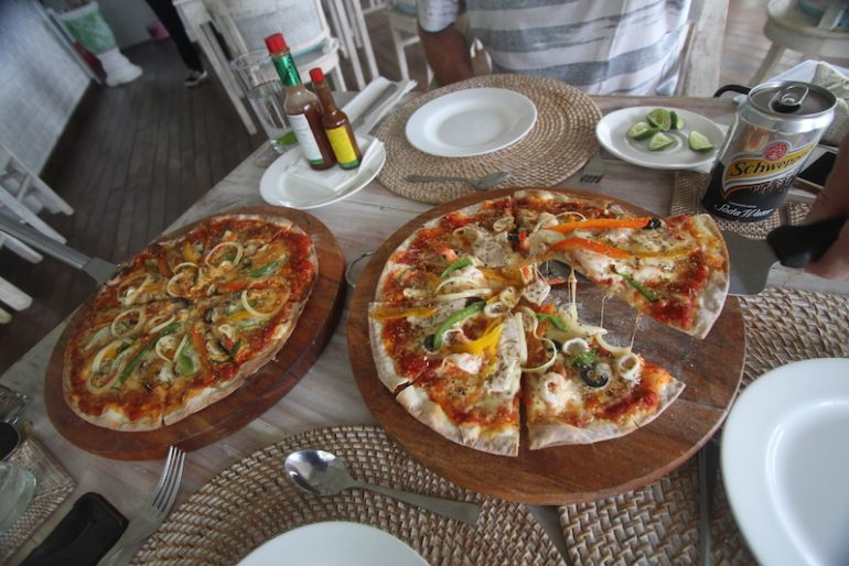 Tasty pizza at Mayo restaurant