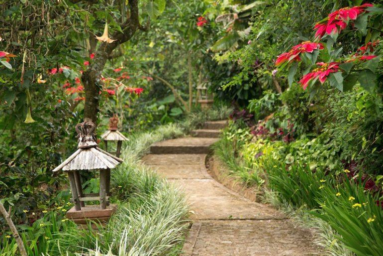 Walking around the huge gardens