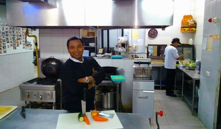 Chef Raka in his kingdom, the kitchen