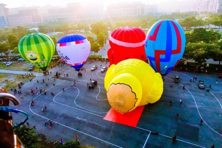 Early morning balloon show at Putrajaya