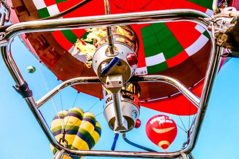 Propelling the balloon