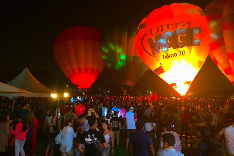 The night music show at MyBallon Fiesta