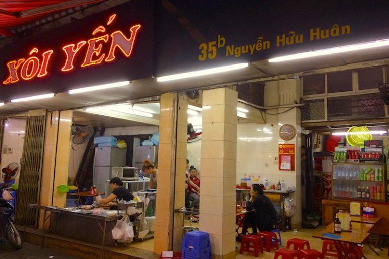 Xoi Yen eatery on Nguyen Huu Huan