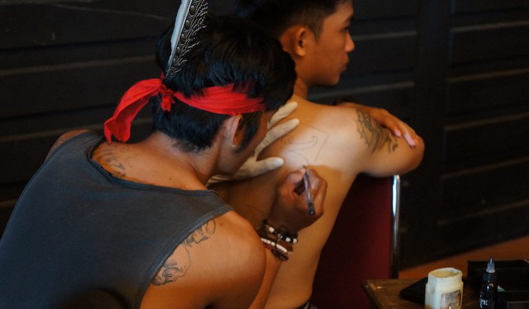 Tattoo art at Gawai festival