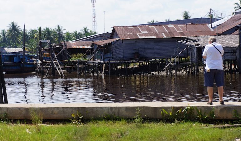 Houses on stilts in Pontianak