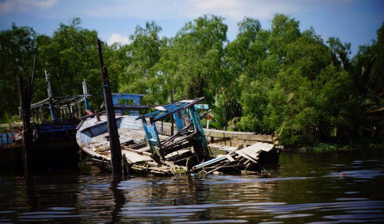 A sunken in Pontianak