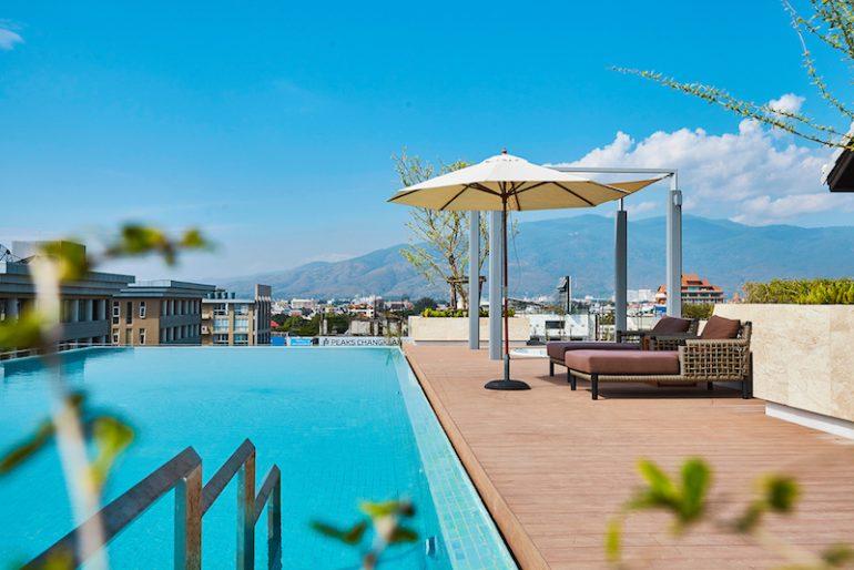 Peaks Avenue Condominium rooftop pool