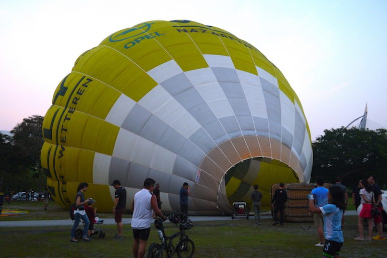 The first inflating balloons