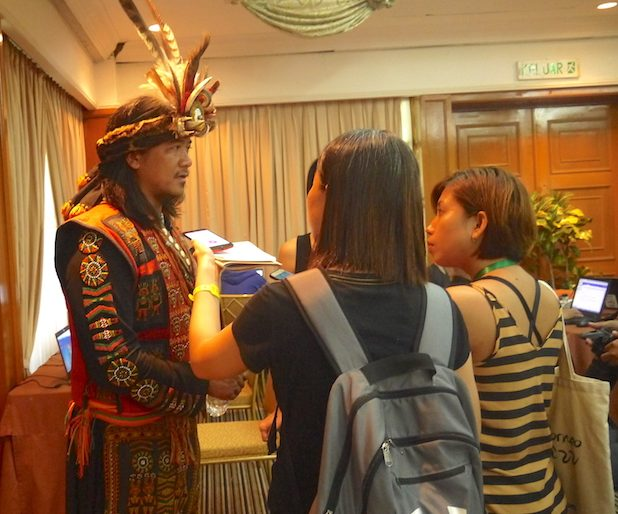 Asian Itinerary interviewing Taiwanese tribesman