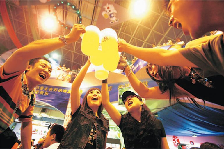 Qingdao Beer Festival in full swing