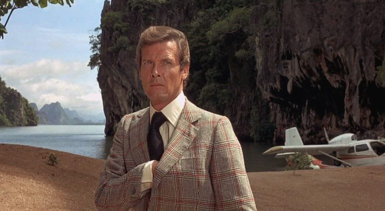 Roger Moore on Phang Nga Bay