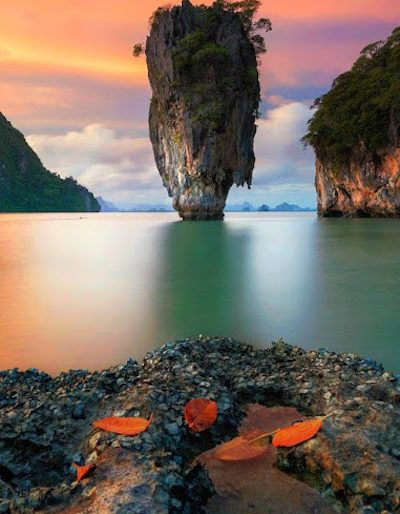 Sunset on the Phang Nga Bay