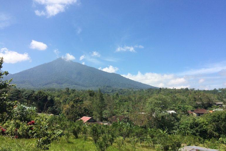 Gunung Batukaru mountain majestic cone