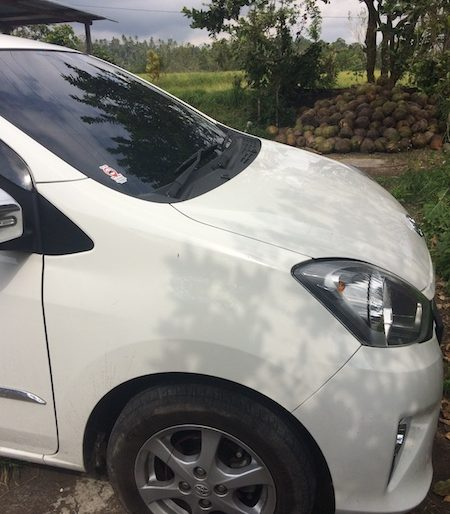 My Bali Pro rented car