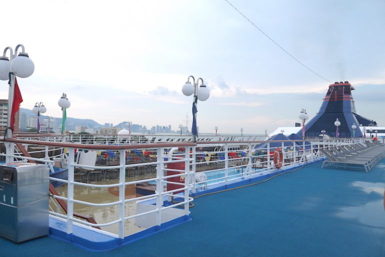 Star Cruise ship upper deck