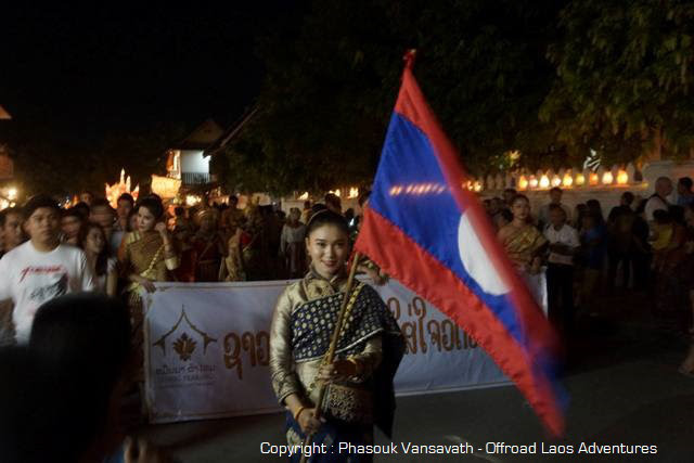 A Laotian flag