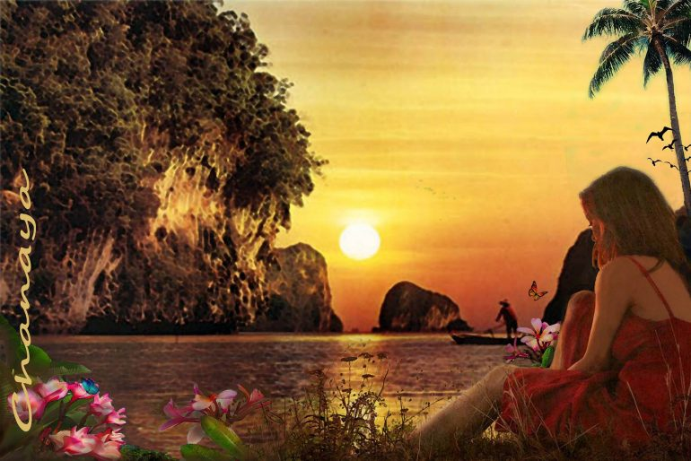 Chanaya Digital Art amazing sunset poster