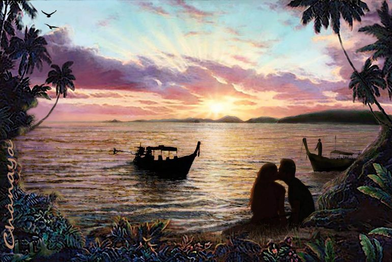 Lovers on a Krabi beach