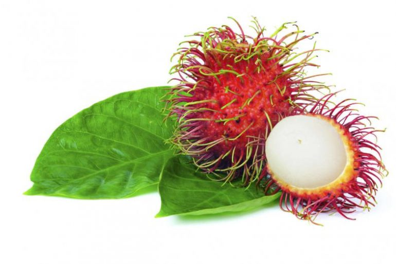 Strange, oval-looking rambutan