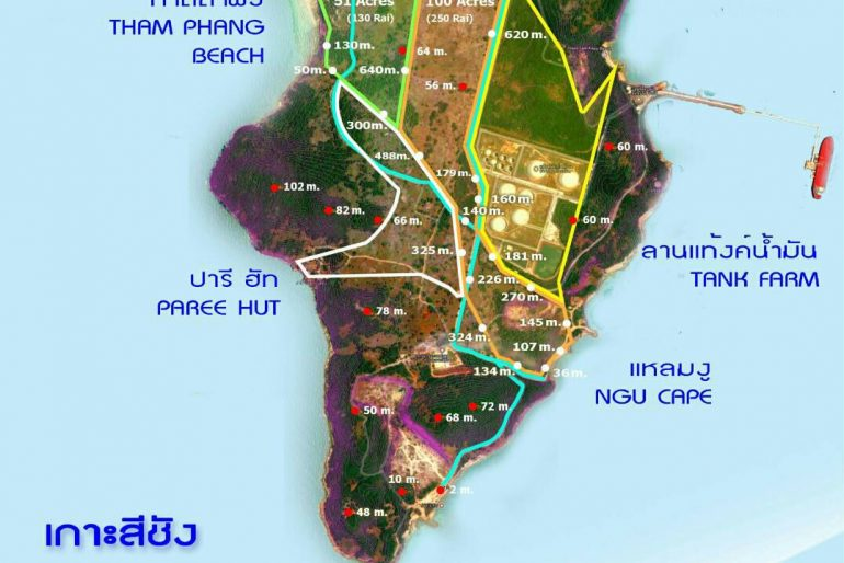 Koh Sichang map