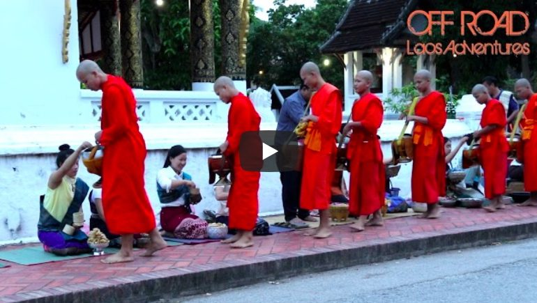 Monks on a Luang Prabang road