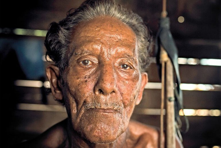 Bajau, a man of the sea, a man who lives as a lifetime fisherman in Togean Islands