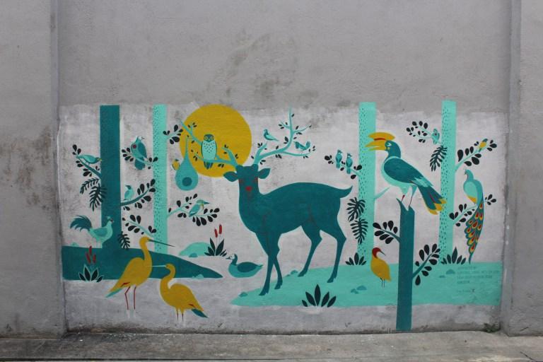 Deer and Birds