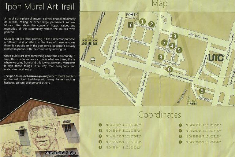 Ipoh mural art trail map