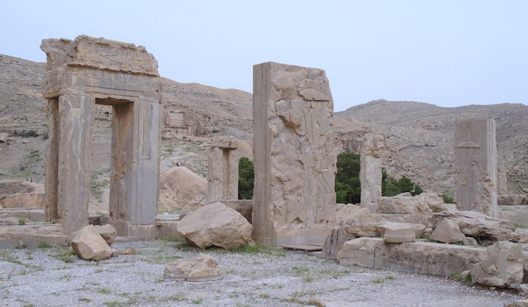 remains of the Palace of Darius