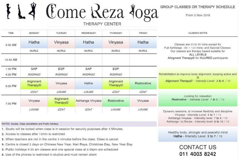 Come Reza Yoga Kuching program