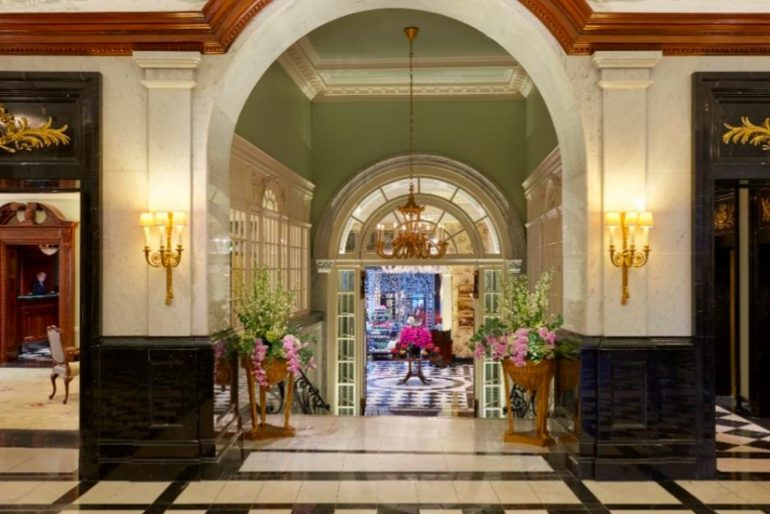 A view from the lobby of The Savoy with a glimpse into the heart of the hotel