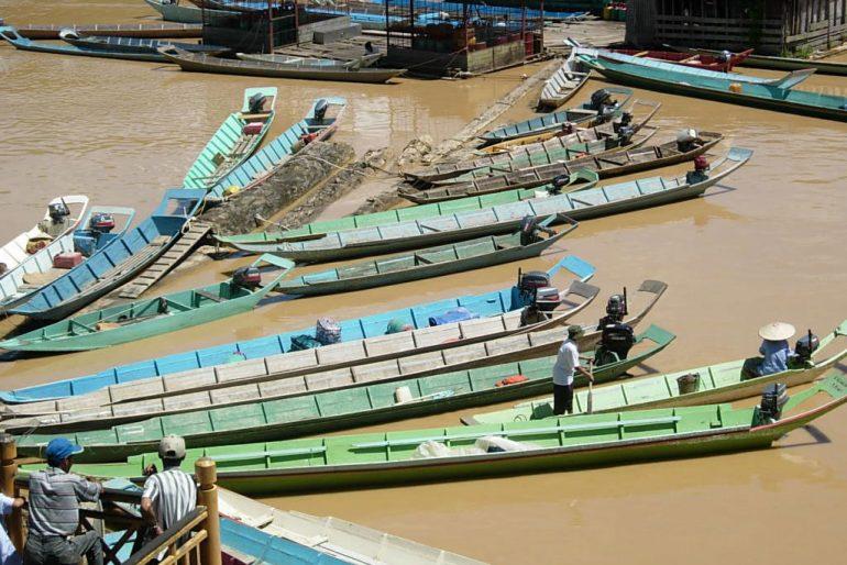 Sibu longtail boats
