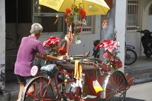 Colourful rickshaw in Georgetown