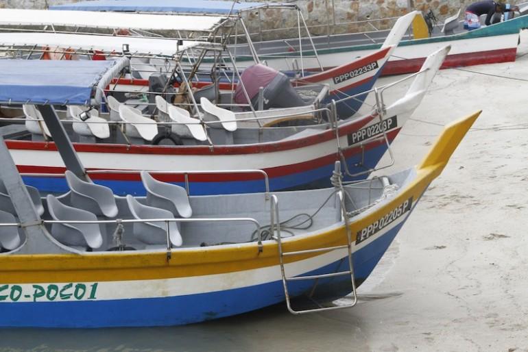 Boats moored at Taman Negara national park