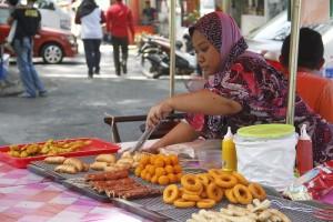 Street food is everywhere in Penang