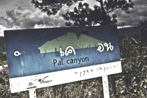 Pai Canyon sign