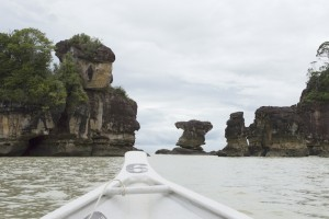 Bako Sea Stack-in between two stones-The view from the boat