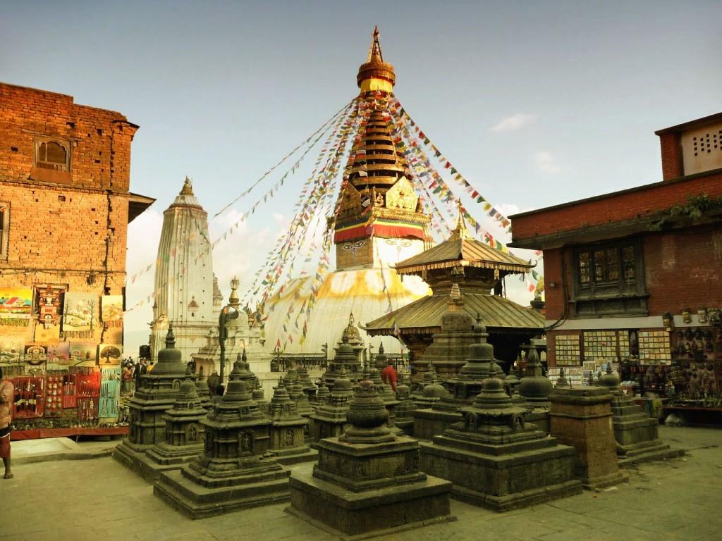 The Buddhist Temple Of Swayambhunath