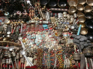 tibetan items at basantapur durbar square